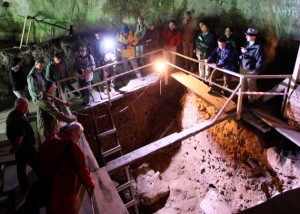 An excavation in Denisova cave in Siberia, Russia, where remains of Denisovan hominins were first discovered. RIA NOVOSTI/SPL