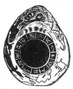 From Sacred Symbols of Mu A Mound Builder's Calendar Stone Found in the Ouachita River, Hot Springs, Arkansas From Col. J. R. Fordyce, Little Rock, Arkansas