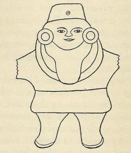 "Illustration of the ""Little Chinaman"" from Lost Continent of Mu page 234"