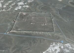 Google Earth view of Khara Khoto