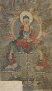 Pure Land of Amitabha from Tangut State of Xi -Xia, Khara-Khoto. 13th - 14th century