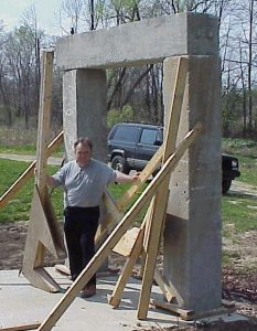 My first 1 man Stonehenge replica of 2400 lb. blocks put in place with no hoisting equipment.